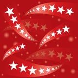 Drapeau patriotique rouge d'étoiles Photos libres de droits