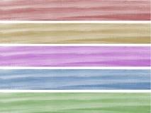 drapeau peint par 5 illustration de vecteur