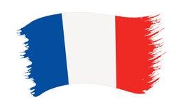 Drapeau peint par traçage de la France illustration libre de droits