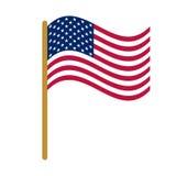 Drapeau politique national des USA de fonctionnaire Photos libres de droits