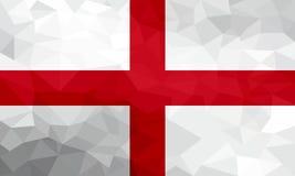Drapeau polygonal de l'Angleterre Fond moderne de mosaïque Dessin géométrique illustration libre de droits