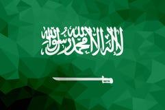 Drapeau polygonal de l'Arabie Saoudite Fond moderne de mosaïque Dessin géométrique illustration libre de droits