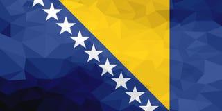 Drapeau polygonal de la Bosnie-Herzégovine Fond moderne de mosaïque Dessin géométrique illustration libre de droits