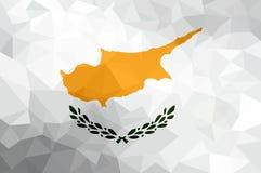 Drapeau polygonal de la Chypre Fond moderne de mosaïque Dessin géométrique illustration stock
