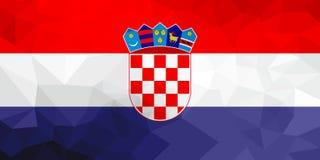 Drapeau polygonal de la Croatie Fond moderne de mosaïque DesignFinland géométrique illustration libre de droits