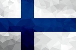 Drapeau polygonal de la Finlande Fond moderne de mosaïque Dessin géométrique illustration libre de droits