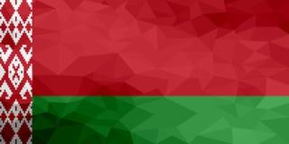 Drapeau polygonal du Belarus Fond moderne de mosaïque Dessin géométrique illustration de vecteur