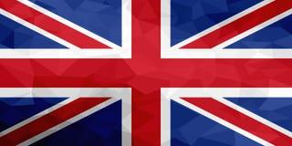Drapeau polygonal du Royaume-Uni Fond moderne de mosaïque Dessin géométrique illustration stock