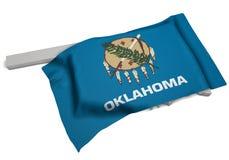Drapeau réaliste couvrant la forme de l'Oklahoma (séries) Photos libres de droits