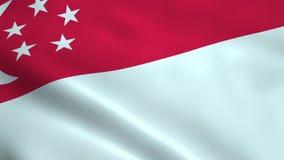 Drapeau réaliste de Singapour illustration stock