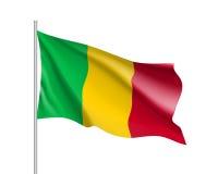 Drapeau réaliste du Mali Photos libres de droits