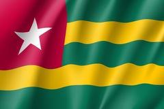 Drapeau réaliste du Togo Image libre de droits