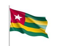 Drapeau réaliste du Togo Photos libres de droits