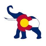 Drapeau républicain d'éléphant du Colorado illustration de vecteur