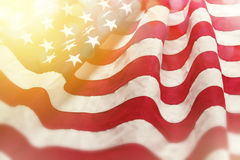 Drapeau rêveur des Etats-Unis Photos stock