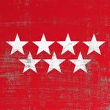 Drapeau rayé de Madrid Image libre de droits