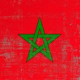 Drapeau rayé du Maroc Image stock