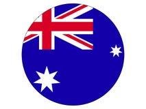 Drapeau rond de l'Australie illustration stock