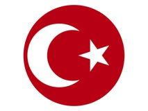 Drapeau rond de l'empire d'Ottoman illustration de vecteur