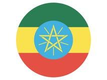 Drapeau rond de l'Ethiopie illustration libre de droits