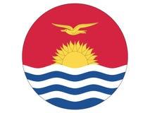 Drapeau rond du Kiribati illustration de vecteur