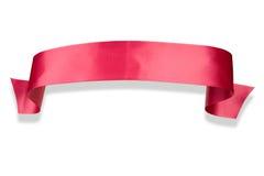 Drapeau rose de bande Photos stock
