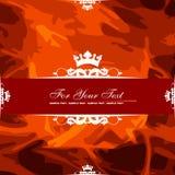 Drapeau rouge Images stock
