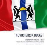 Drapeau russe de Novosibirsk Oblast d'état Image stock