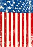 Drapeau sale américain Photographie stock libre de droits