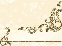 Drapeau sale de sépia de cru, horizontal illustration stock