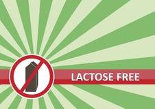Drapeau sans lactose Image stock