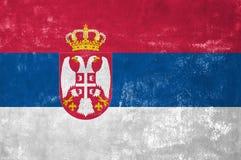Drapeau serbe images stock