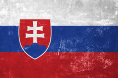 Drapeau slovaque images libres de droits