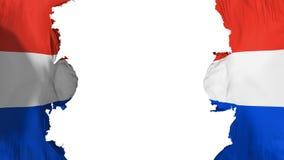 Drapeau soufflé du Paraguay illustration libre de droits