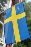 Drapeau suédois Photographie stock libre de droits