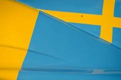Drapeau suédois sur la voiture de course Photos libres de droits
