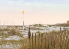 Drapeau sur la plage de chasse Photo libre de droits