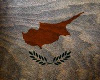 Drapeau texturisé en bois de la Chypre - Photo libre de droits
