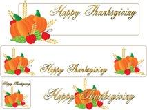 Drapeau thanksging heureux Photos libres de droits