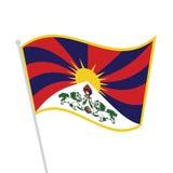Drapeau tibétain ondulé illustration stock
