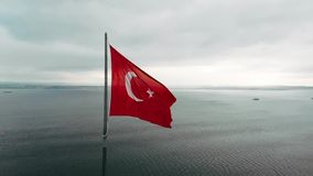 Drapeau turc banque de vidéos