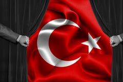 Drapeau turc, Turquie, conception de drapeau Photographie stock