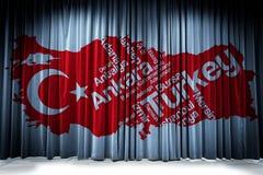 Drapeau turc, Turquie, conception de drapeau Photo libre de droits