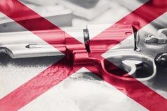 Drapeau U de l'Alabama S contrôle des armes d'état Etats-Unis Les Etats-Unis lancent la loi images libres de droits