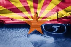 Drapeau U de l'Arizona S contrôle des armes d'état Etats-Unis Les Etats-Unis lancent la loi photographie stock libre de droits