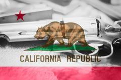 Drapeau U de la Californie S contrôle des armes d'état Etats-Unis Les Etats-Unis Photo stock