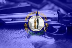 Drapeau U du Kentucky S contrôle des armes d'état Etats-Unis Les Etats-Unis images stock