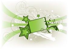 Drapeau vert Photographie stock libre de droits