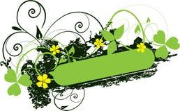 Drapeau vert illustration stock