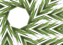 Drapeau vert abstrait de flèche Photographie stock